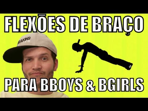 Flexões de braço para bboys e bgirls